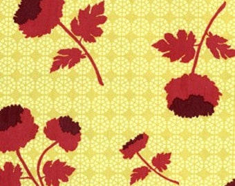 Rare Joel Dewberry Ginseng Collection Tossed Flowers Patter Color Carmel All Fabric is mail Via Priority Mail