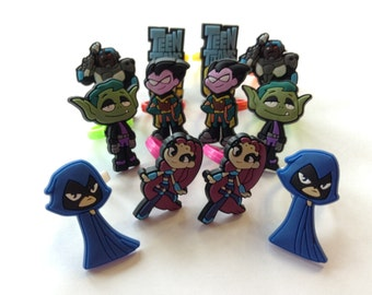Teen Titans Go! Rings Party Favors Cupcake Toppers 12 Pieces