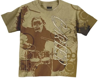 Boys Gorilla Shirt  -  Personalized Drum Set Top, Childrens Clothing