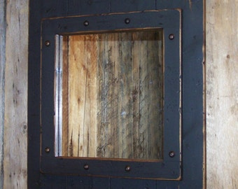 Red White Amp Blue Decorative Wood Mirror Wood Framed