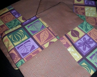 Quilted Set of 3 Harvest Fall  Pot Holders/Trivets