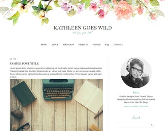 "Blogger Template, Blog Template - ""Kathleen 