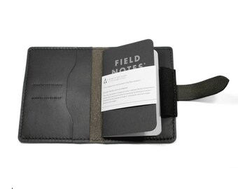 Leather Notebook Cover / Leather Passport Wallet / Leather Passport case for Field Notes Moleskine Cahier / Traveller's Notebook