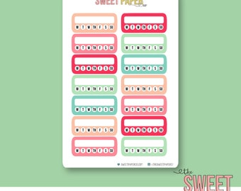 Habit Tracker Stickers | DREAM BIG