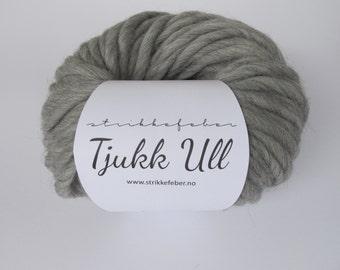 Chunky wool yarn - Grey