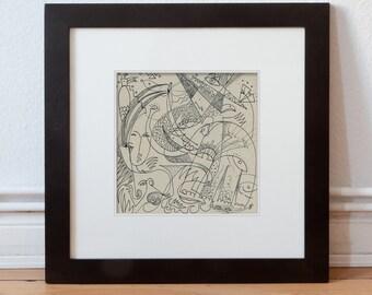 Art pour le mur, dessin 20/20 cm (7.87/7.87 pouces) / wall art