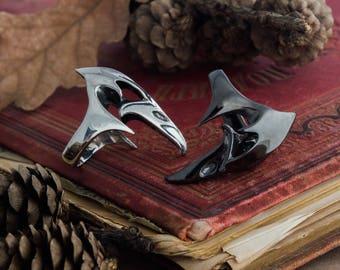 Raven skull ring, crow ring, gothic witch ring, animal totem, oracle magic occult ring, raven beak