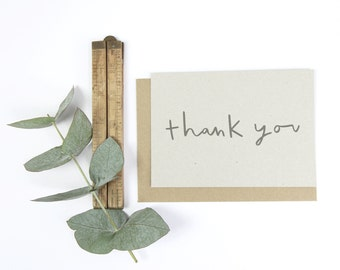 Thank You Notecard Set - set of 8 notecards and kraft envelopes