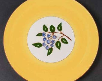 Vintage Original Stangl Blueberry Collectible Luncheon Ceramic Plate 9 3/8''