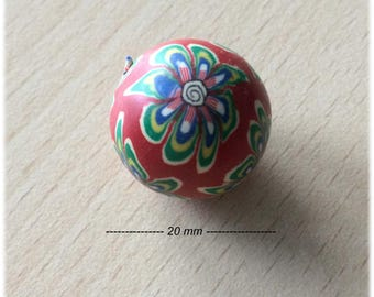 pretty little polymer bead size 20 mm
