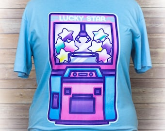 Lucky Star, Ufo Catcher Shirt, Pastel Goth Clothing, Fairy Kei, Kawaii, Geek Clothes, Aesthetic, Plus Size, Pastel Grunge