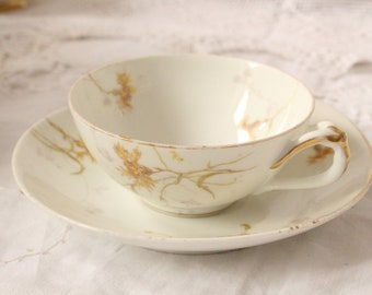 Pretty  yellow flower teacup and saucer