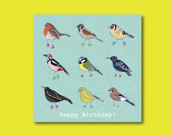 Fun Birds with shoes Birthday Card