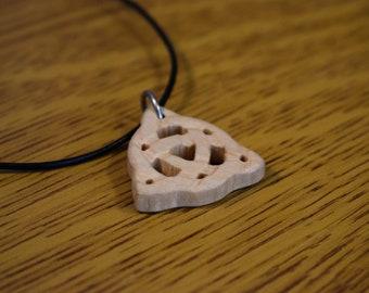 Handmade Wooden Celtic Triquetra Necklace, Celtic Symbol, Celtic Necklace, Celtic Pendant, Triquetra Necklace, Triquetra Pendant, Scroll Saw