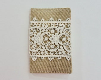 Denim and Lace Mini Wallet