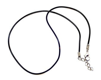 Black rubber necklace (ADD ON ITEM)