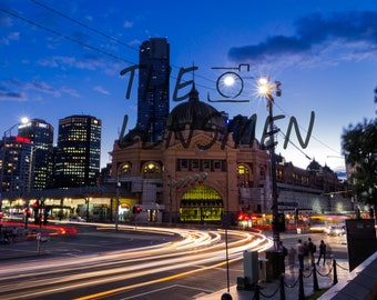 Colour Photograph, Melbourne, Flinders street station, Long exposure