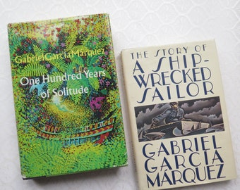 Gabriel Garcia Marquez Novels 1970 One Hundred Years of Solitude First Edition The Story of a Shipwrecked Sailor Hardback Book Dust Jackets