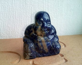 Hand Carved Sodalite Buddha Crystal Healing Meditation Relaxation