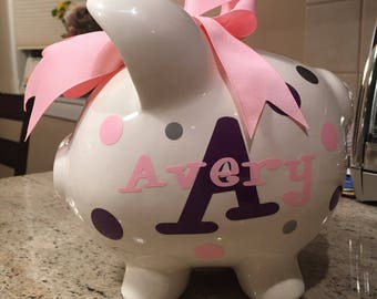 Custom Personalized Piggy Bank