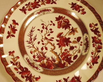 """SPODE INDIAN TREE Plate England Collector Hanging Decor 7-5/8"""""""