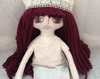 Unicorn girl princess cloth doll