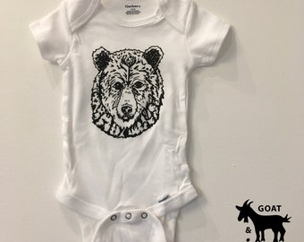 Grizzly Bear Onesie/Toddler Tee 100% cotton