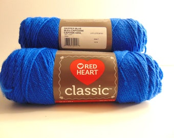 Skipper Blue - Red Heart Classic yarn worsted weight 100% acrylic
