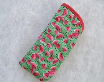 Quilted Sunglass/eyeglass case - Watermelons