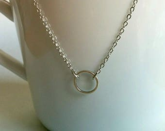 A perfect circle. Necklace.