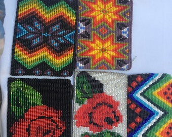 Colorful Mexican Bead Pouch