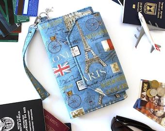 Family Travel Wallet - Family Passport Holder - Travel Document Holder - travel organizer - boarding pass holder - family passport wallet