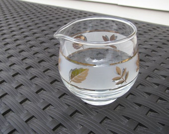 Libbey Glass Gold Leaf Creamer