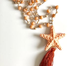 Star and tassel necklace