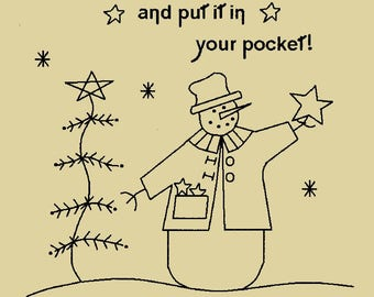 """Primitive Stitchery E-Pattern,""""Catch a falling star and put it in your pocket!"""""""