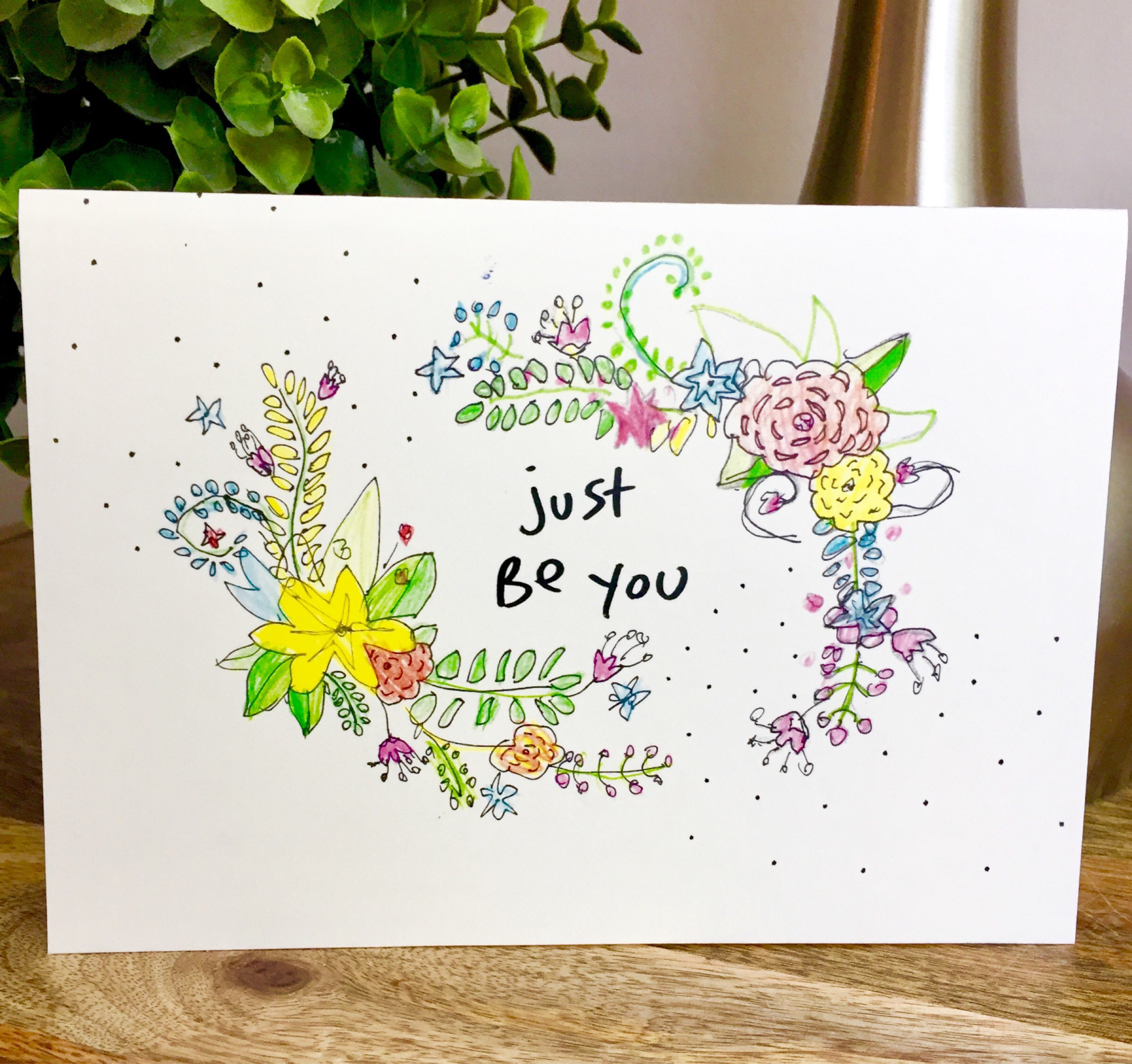 Bulk greeting cards 6 pack of cards positive hello card be bulk greeting cards 6 pack of cards positive hello card be yourself card just be you spectacular you encouragement card just be you m4hsunfo