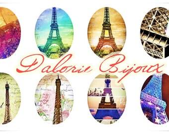 30 x 40 mm, Collage digital, Planche d'Images Digital Paris pour cabochons ovales