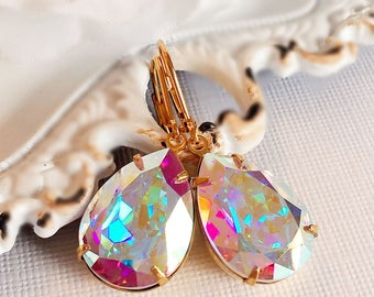 Victorian Earrings - Aurora Borealis - Bridesmaid Earrings - Magical - CAMBRIDGE Aurora