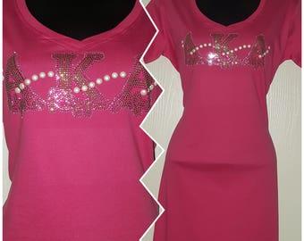 AKA Rhinestone T-Shirt Dress Sz S/M