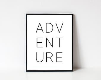Adventure Wall Art, Printable, Adventure, Printable Art, Adventure Print, Travel Wall Art, Adventure Poster, INSTANT DOWNLOAD