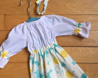 "Dress for 16"" Waldorf doll, Cloth doll dress, Handmade doll dress, Waldorf doll clothes, Steiner doll clothes"