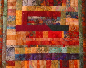 Remains of the Day #3 Wall Art Quilt