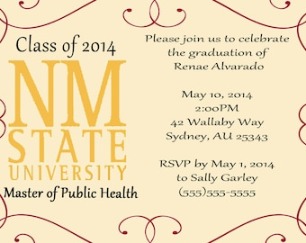 Graduation Announcement, Party Invitation