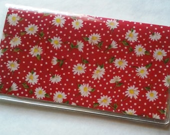 Daisies and Dots Checkbook Cover