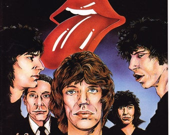 The Rolling Stones comic book. Mick Jagger, Keith Richards, Music, Band, Rock n' Roll Comics 6 Revolutionary from 1989 in VF+ (8.5)