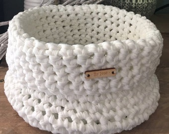 DIY crochet package Basket Noodle