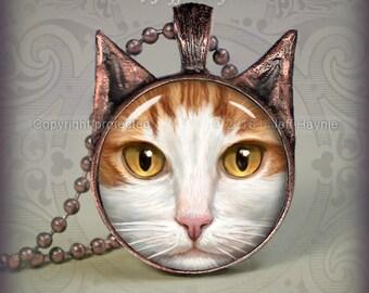 OW11 Orange Tabby Cat pendant