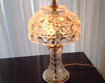 Vintage cut crystal boudior nite light