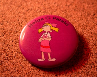 2.25 inch Helga G. Pataki Pin-back Button