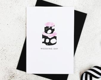 Wedding Day | Monochrome Card | Wedding Cake Card | Wedding Card | Wedding Congratulations